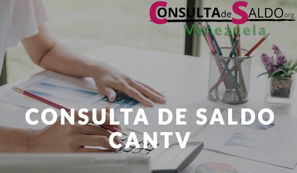 Consuta de saldo CANTV