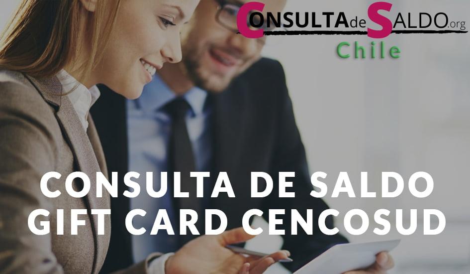 Consulta de saldo Gift Card Cencosud