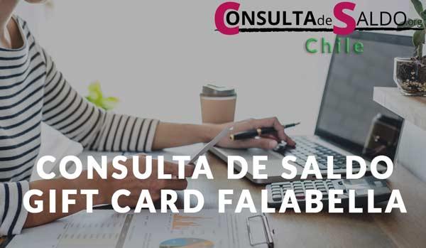Consulta de saldo GIFT Card FALABELLA